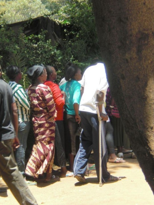 People with disabilities queue to vote - Nairobi